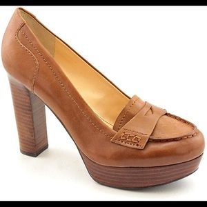 Marc Fisher Leather Loafer Heels